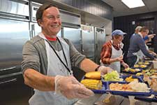 Up to 350 hot meals will be served three times a day, seven days a week in the cafeteria. The meals ate open to anyone in need – not just those who stay on campus.